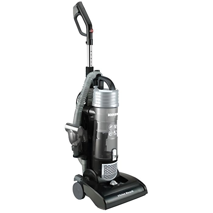 Hoover 39100502 VR31VR10 Vision Reach Aspirateur à brosse compatible avec tous les sols durs et moquettes, 3 litres, 3910050