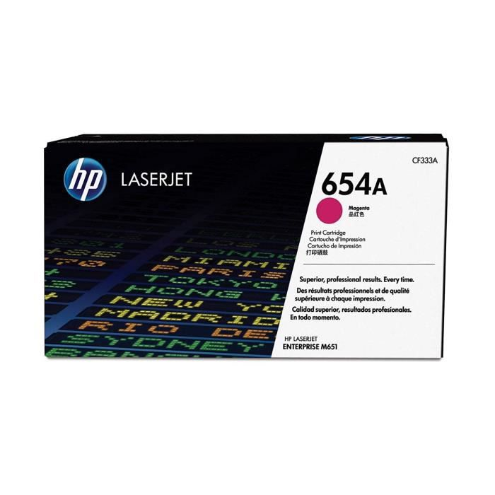 HP Cartouche de Toner 654A Original - 15000 pages - Mangenta