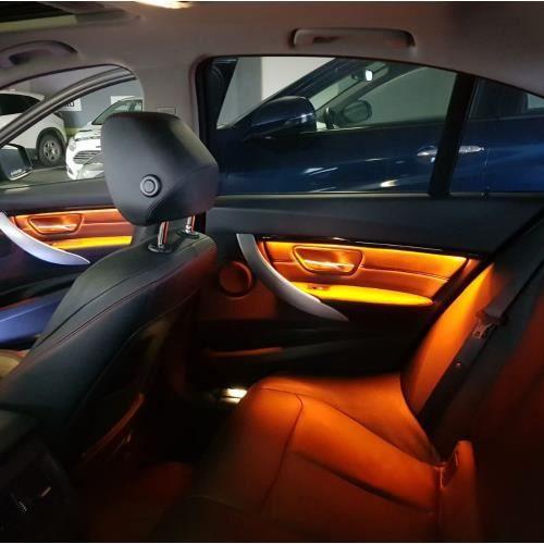 Pour BMW F30/F31 voiture mise à niveau intérieur moulures décoratives led ambiante porte lumière atmosphère lampe d'éclairage