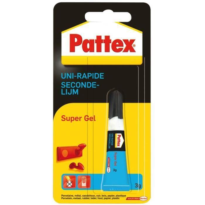 Pattex colle uni-rapide supergel 3g