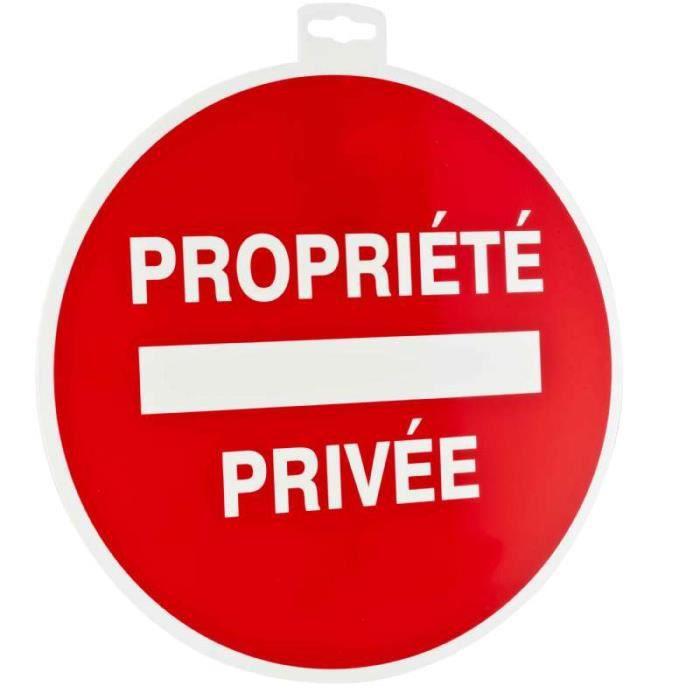 Panneau propriété privée 30cm