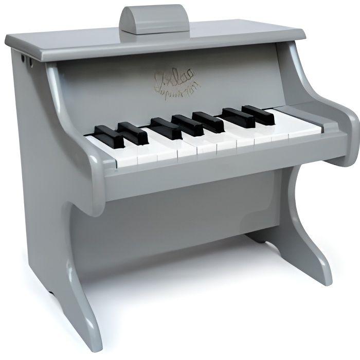 Vilac Piano Gris en bois 18 touches (avec partitions) Edition limitee - Jouet instrument musical