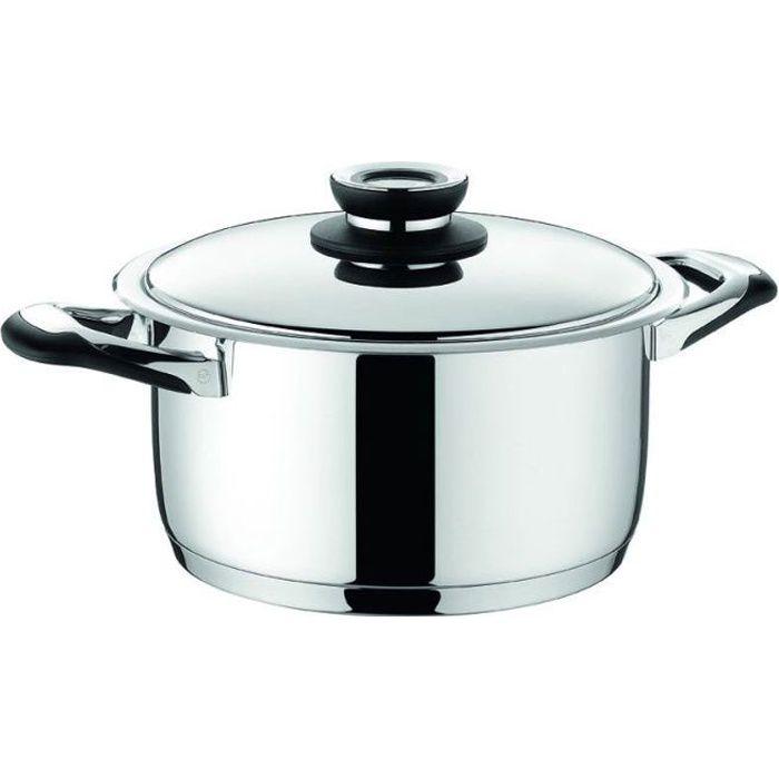 Faitout avec couvercle Ecovitam 3,8L 20cm – Warmcook, Grill inox, plat a rotir, cuisine induction, cuisson vapeur