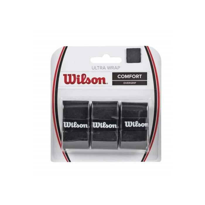 Lot de 6 grips Wilson Ultra - noir - TU Tennis