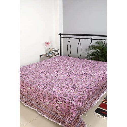 indian design imprim floral double taille couvre lit bed sheet achat vente jet e de lit. Black Bedroom Furniture Sets. Home Design Ideas