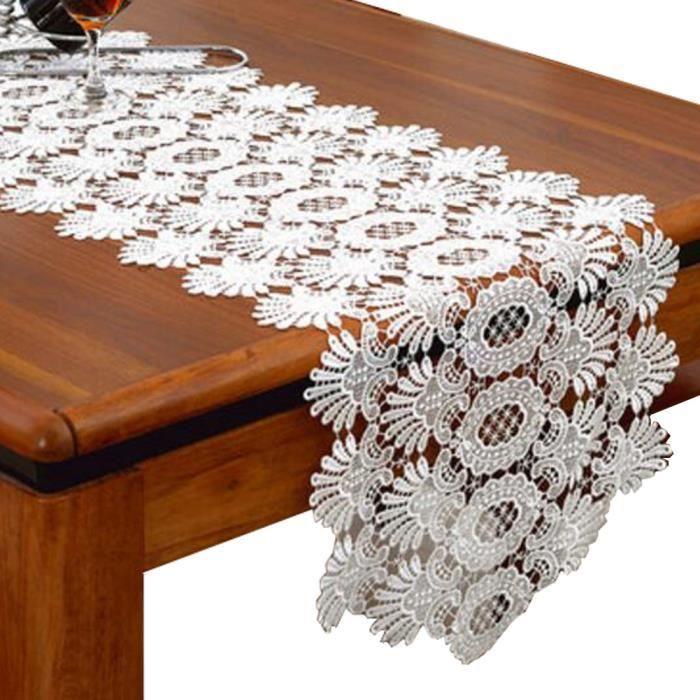 CHEMIN DE TABLE Dentelle Chemin de table Piano Couverture Tissu Ta