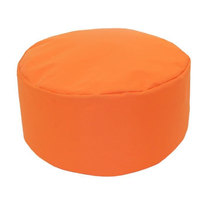 pouf tout rond int rieur ext rieur orange achat vente pouf poire cdiscount. Black Bedroom Furniture Sets. Home Design Ideas