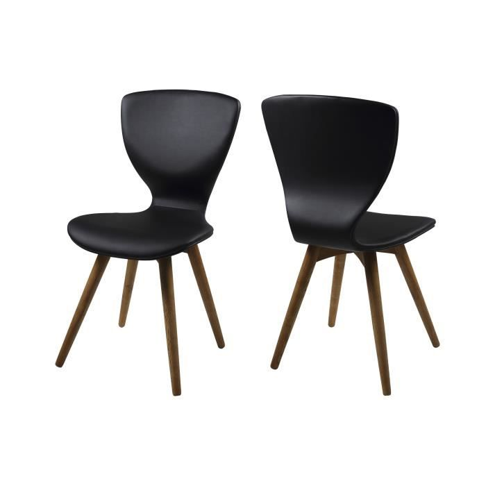 lot de 2 chaises salle manger gongli en cuir pie achat. Black Bedroom Furniture Sets. Home Design Ideas