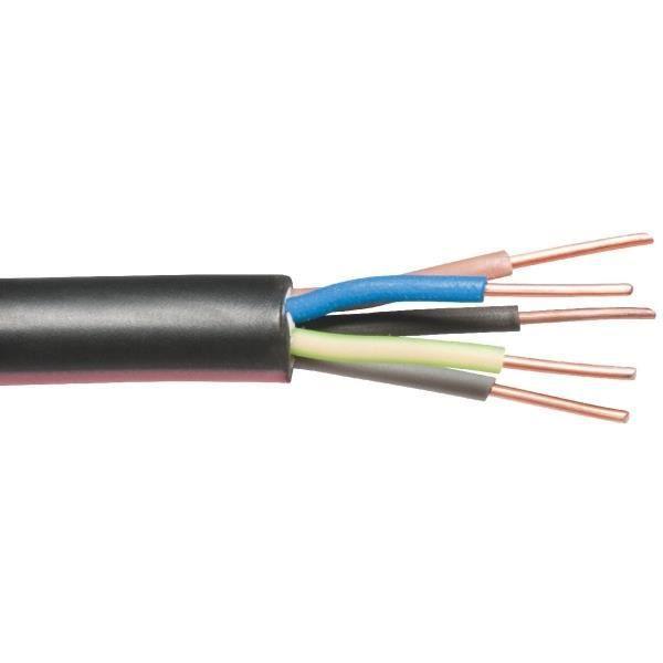 BOBINOT CABLE RIGIDE 5M U1000 R2V 3G1,5mm/² NOIR