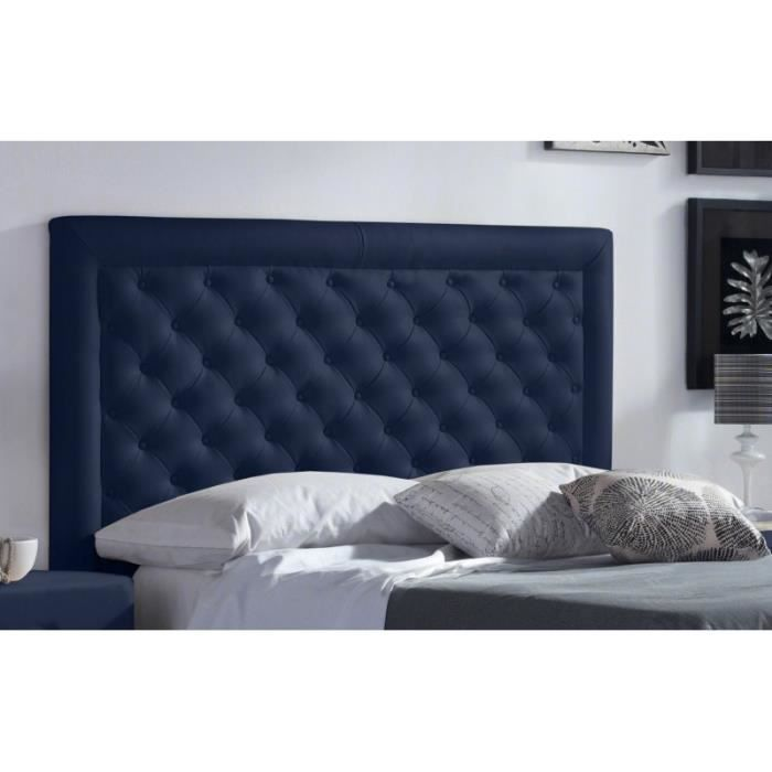 t te de lit pu marco couleur bleu mesure lit de 120 cm de large achat vente t te de. Black Bedroom Furniture Sets. Home Design Ideas