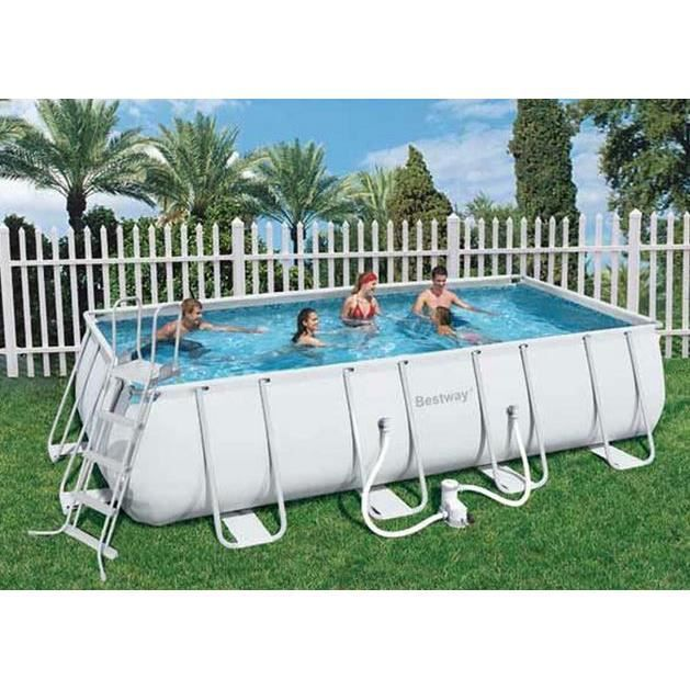 piscine tubulaire rectangulaire power steel frame pool 549
