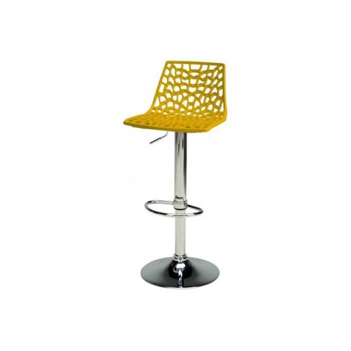 tabouret de bar ajustable jaune sparte achat vente tabouret de bar cdiscount. Black Bedroom Furniture Sets. Home Design Ideas