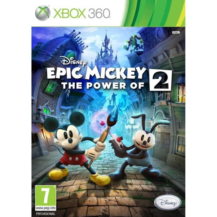 disney epic mickey 2 the power of two xbox 3 achat vente jeux xbox 360 disney epic. Black Bedroom Furniture Sets. Home Design Ideas