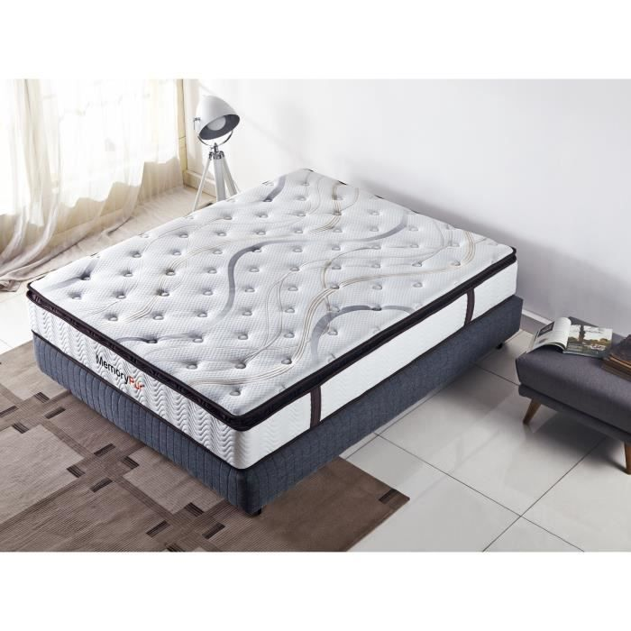 matelas detente 160x200 27 cm m moire de forme latex naturel ressorts ensach s achat. Black Bedroom Furniture Sets. Home Design Ideas