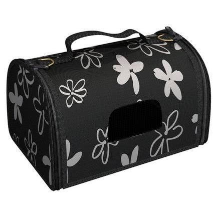 panier de transport pour chien flower medium noir achat. Black Bedroom Furniture Sets. Home Design Ideas