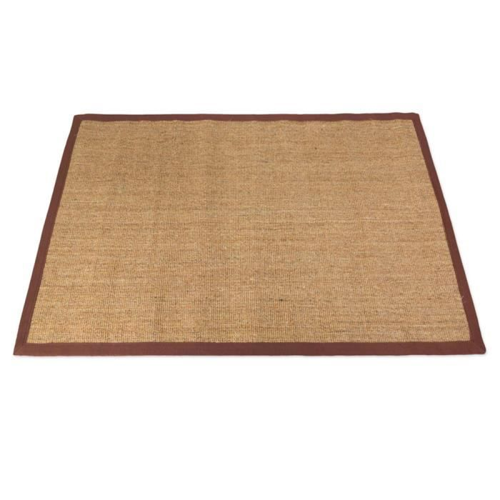 tapis de sisal en fibre naturelle coloris brun achat vente tapis cdiscount. Black Bedroom Furniture Sets. Home Design Ideas