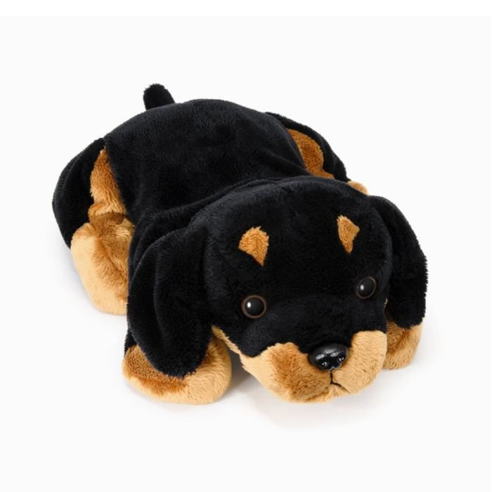 peluche chien 30 cm noir et marron achat vente. Black Bedroom Furniture Sets. Home Design Ideas