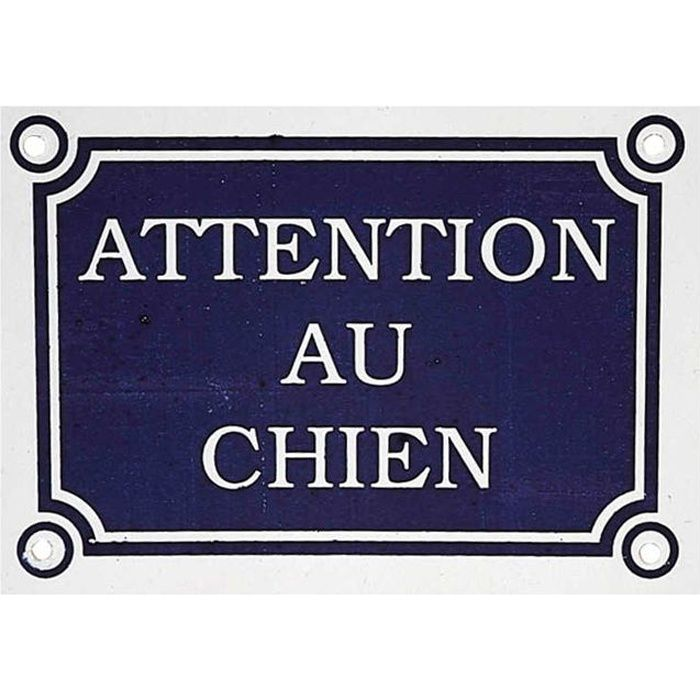 plaque attention au chien achat vente plaque signal tique plaque attention au chien. Black Bedroom Furniture Sets. Home Design Ideas