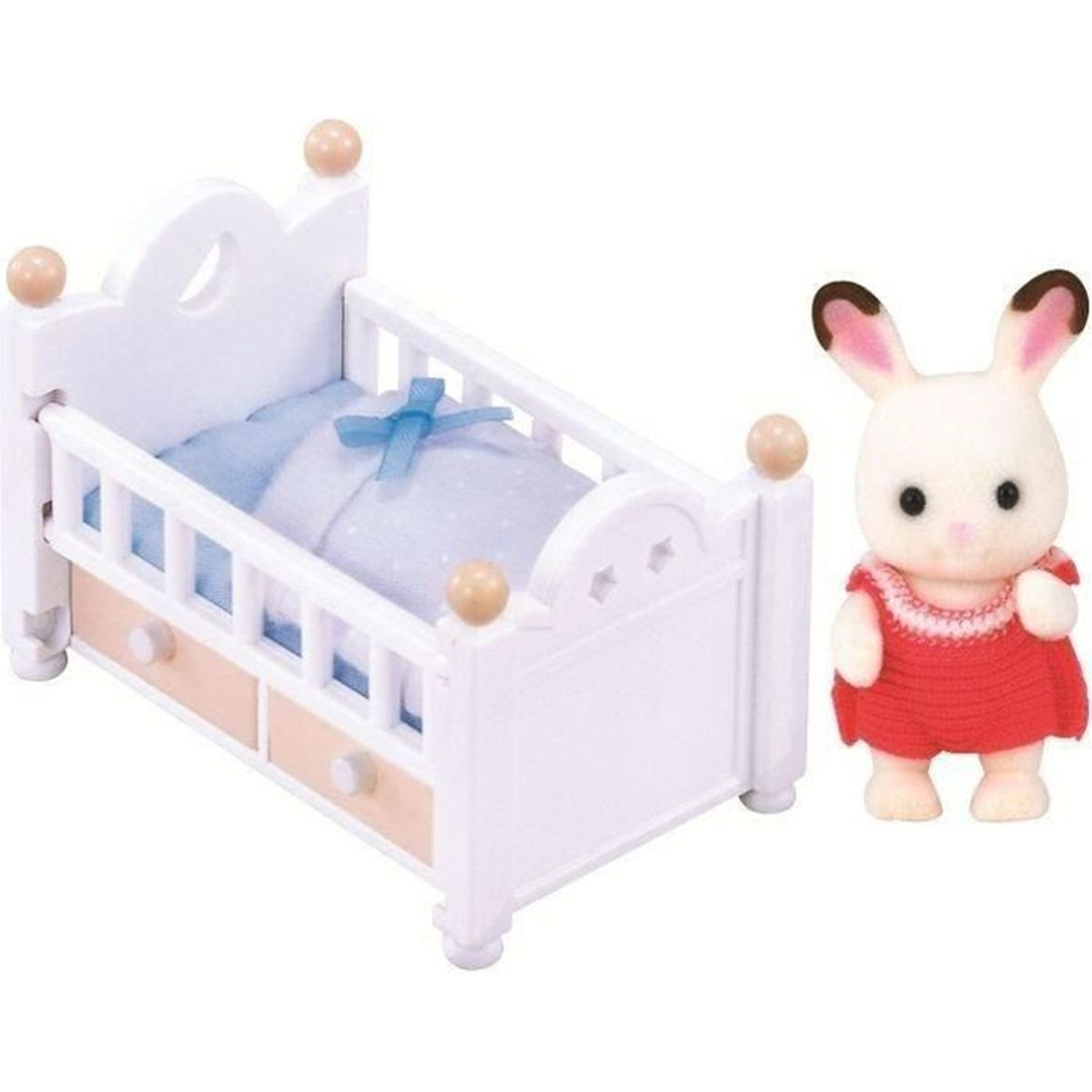 sylvanian families 2205 b b lapin chocolat lit achat vente figurine personnage cdiscount. Black Bedroom Furniture Sets. Home Design Ideas