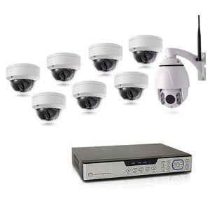 CAMÉRA DE SURVEILLANCE Kit de vidéosurveillance intérieur-extérieur avec