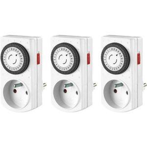 Minuterie ip44 Extérieur Outdoor Jardin 3500 W Timer Prise de courant lancées Blanc