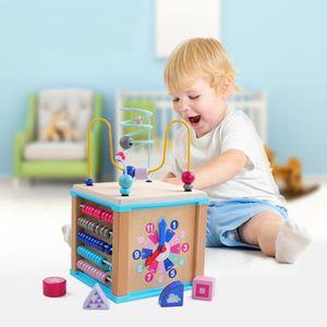 TABLE JOUET D'ACTIVITÉ Activité en bois coloré Cube de luxe multi-fonctio