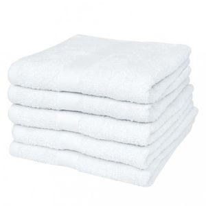 SERVIETTES DE BAIN Magnifique 25 serviettes de toilette blanches 70 x