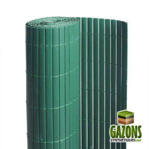 CLÔTURE - GRILLAGE Canisse PVC   Vert   Double Face 1.5 x 3 m