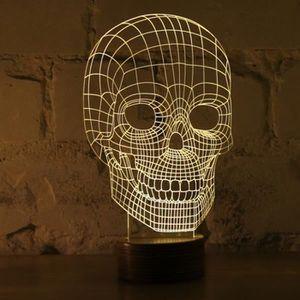 LAMPE A POSER Lampe Bulbing Tête de Mort 3D