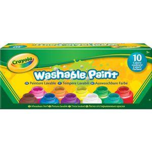 JEU DE PEINTURE Crayola - 10 pots de peinture lavable - boîte fran