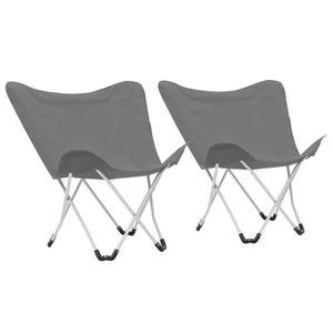 FAUTEUIL JARDIN  FREOSEN Chaise de camping pliable Forme de papillo