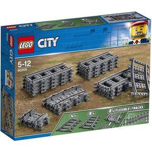 ASSEMBLAGE CONSTRUCTION LEGO® City 60205 Pack de Rails