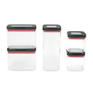 BOITES DE CONSERVATION TEFAL - INGENIO Dry Storage - Lot de 5 boîtes de r