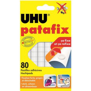 COLLE - PATE ADHESIVE UHU Patafix Blanche 80 Pastilles