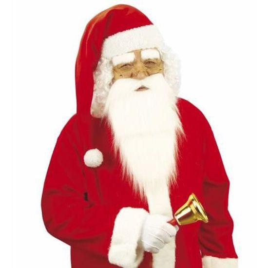 Santa taille adulte Chapeau Unisexe Père Noël Fête De Noël Chapeau Blanc avec peluche UK