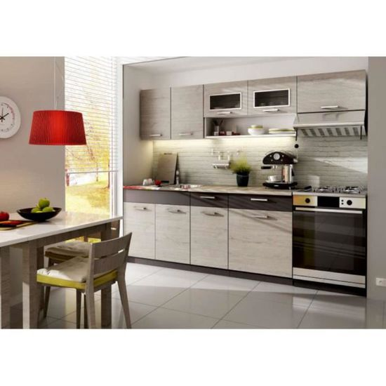 Justhome Moreno Cuisine Equipee Complete Couleur Lave Picard