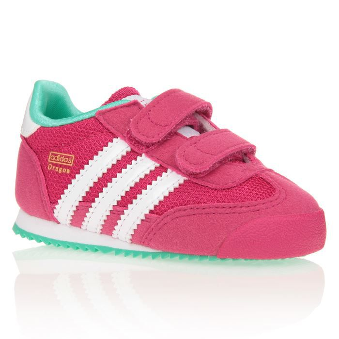 adidas baskets dragon chaussures b b fille fushia et. Black Bedroom Furniture Sets. Home Design Ideas