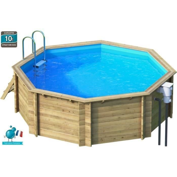 Tropic piscine bois octogonale 4 10 x 1 20 m achat for Pose liner piscine bois octogonale