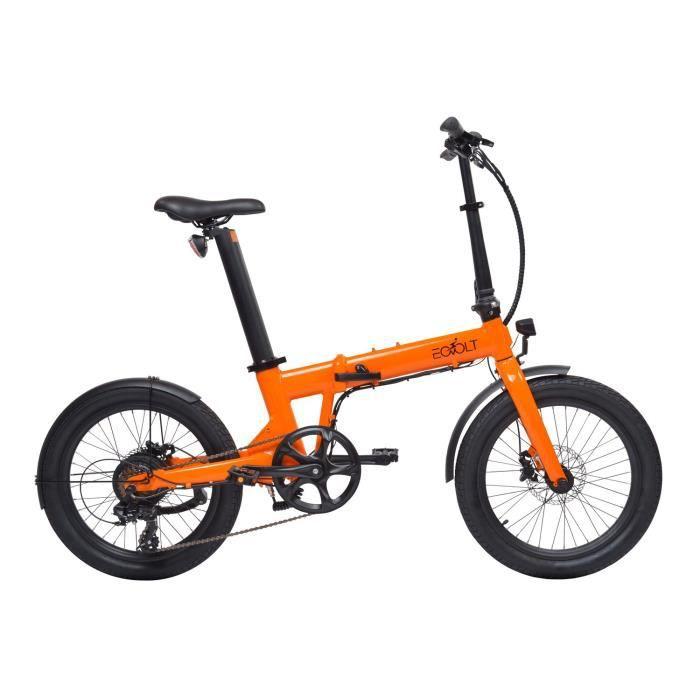 Vélo à assistance électrique Confort pliant 20- - Orange