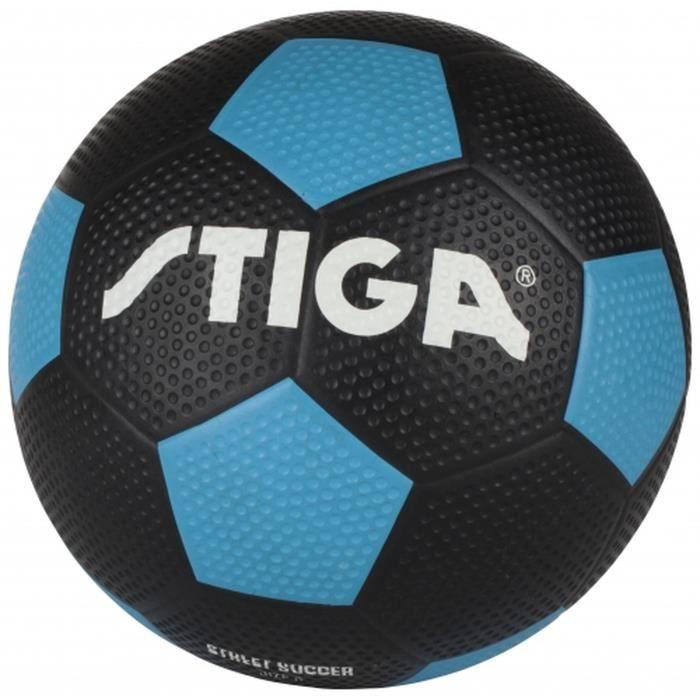 STIGA Ballon de football street soccer - Noir et bleu - Taille 5