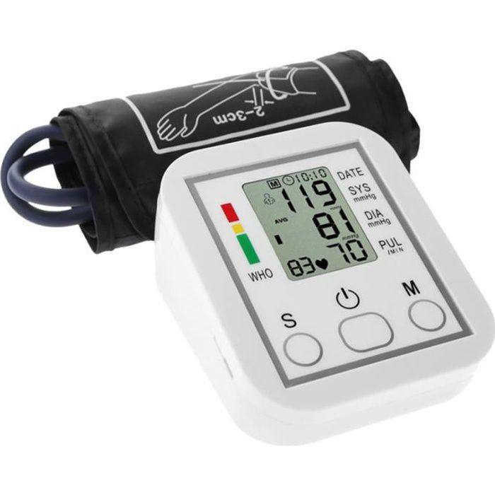 1 PC utile pratique manomètre électronique tensiomètre bras sphygmomanomètre pour la maison MANOMETRE