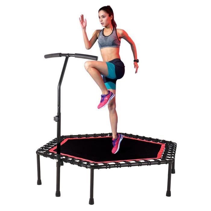 MIA Trampoline Rebondisseur avec Poignée Ajustable Trampoline de Fitness Limite Maximale 150 KG