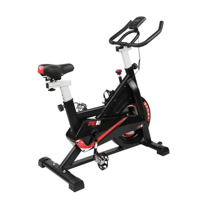 Vélo d'Appartement Magnétique - 8 niveaux de résistance réglables - Inertie 6 kg - Capteurs d'impulsion