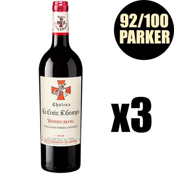 X3 Château La Croix Saint-Georges 2016 75 cl AOC Pomerol Vin Rouge