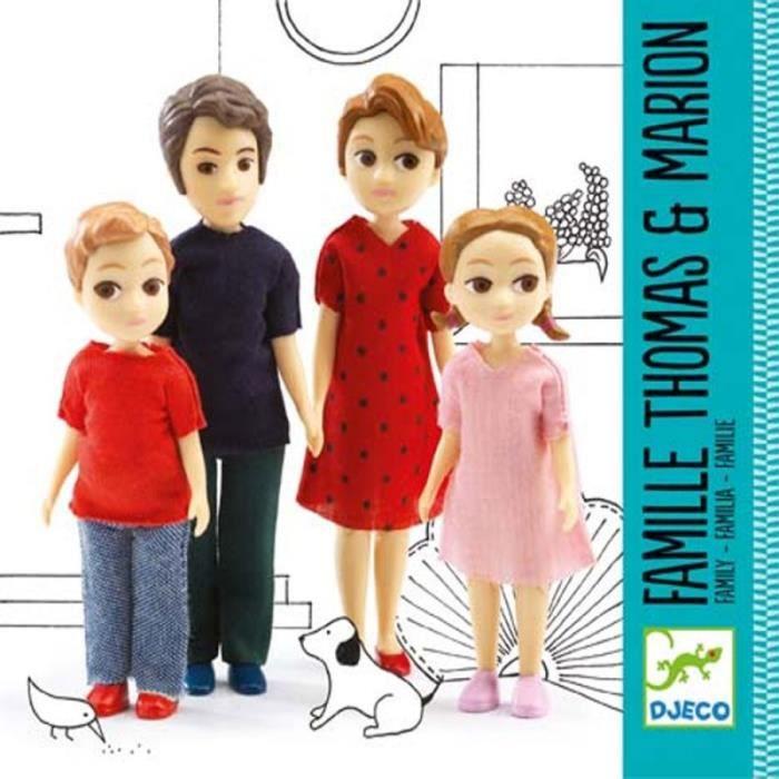 Famille pour maison de poupée Figurines articulées Djeco