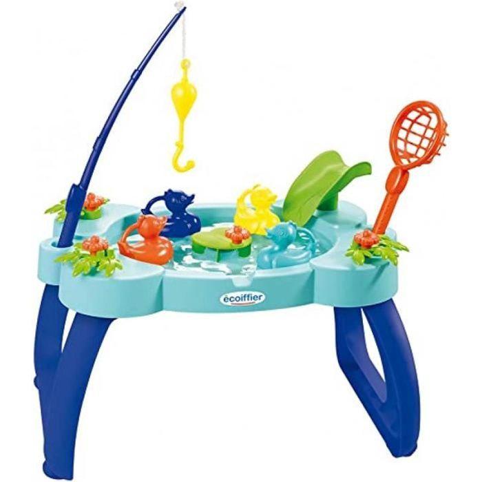 jouets ecoiffier -4610 - table de pêche aux canards – jeu de plein air pour enfants – dès 18 mois – fabriquée en france