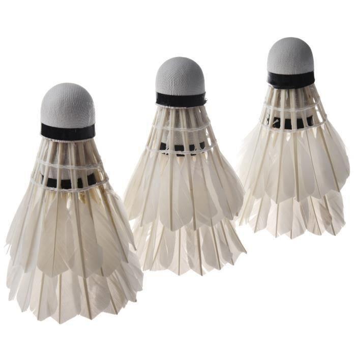6PCS Blanc Volants de Badminton
