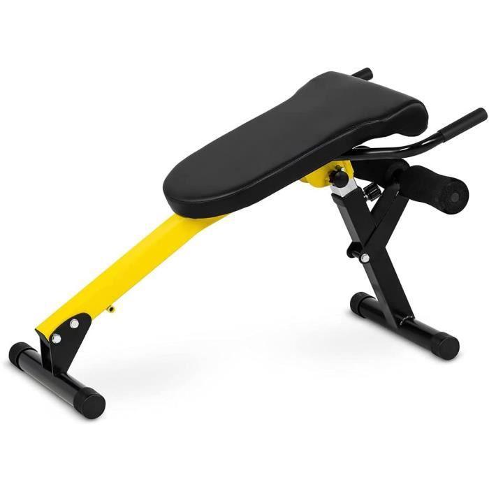 Gymrex Banc Lombaires De Musculation Matériel Abdo Planche Inclinable Équipement Pour Abdos Réglable Fitness Incliné GR-BT 50 (89