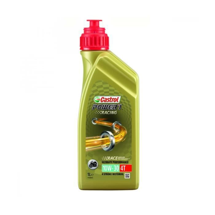 HUILE SYNTHETIC 4 TEMPS 1 LITRE 10W30 POWER 1 RACING CASTROL-2207215