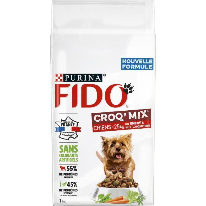 FIDO Crox'Mix Bœuf, Légumes - Pour chien - 1 kg